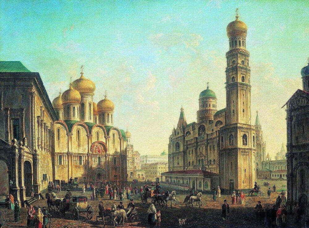 Соборная площадь в Московском Кремле. Не датировано