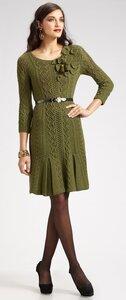 Оливковое платье от Оскара