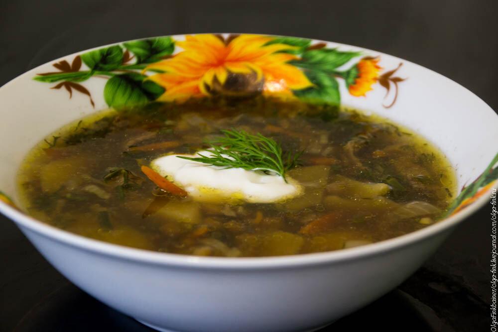 Суп из чечевицы с белыми грибами рецепт