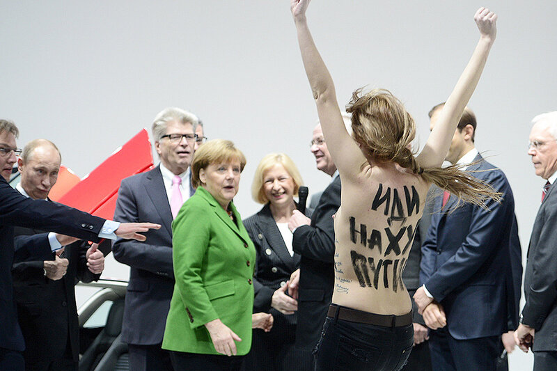 Побили представителя Femen из-за визита Патриарха
