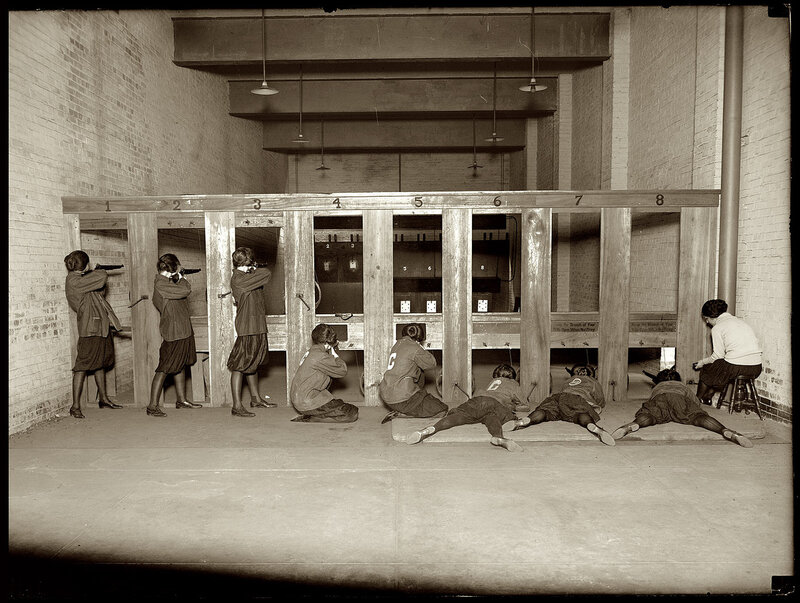November 10, 1922. Girls' rifle team