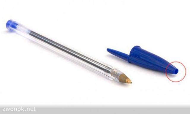 Секрет колпачка шариковой ручки