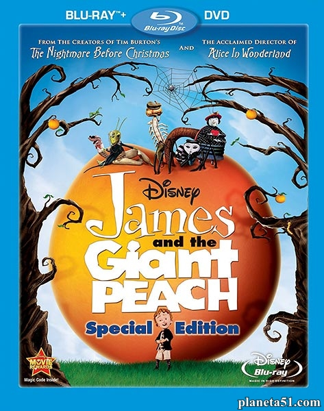 Джеймс и гигантский персик / James and the Giant Peach (1996/HDRip)