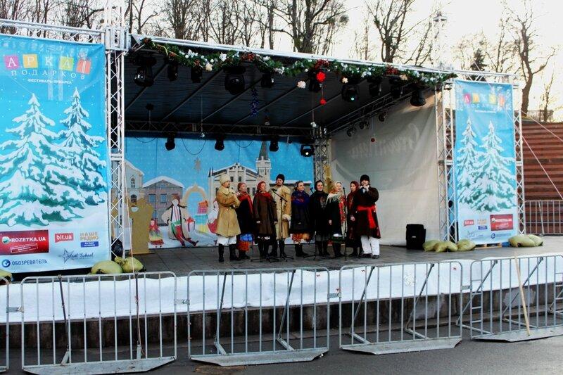 Сцена рождественской ярмарки