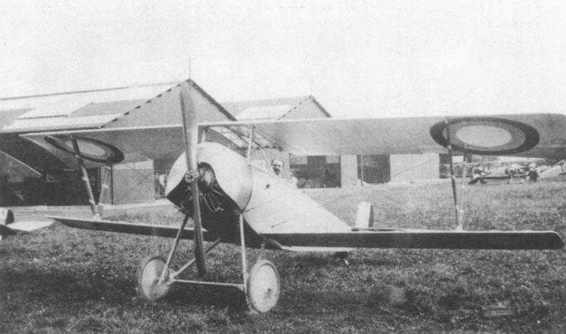 Nieuport 21 поставлялся в Великобританию, США и Россию. Данная машина принадлежала авиации русской Армии..jpg