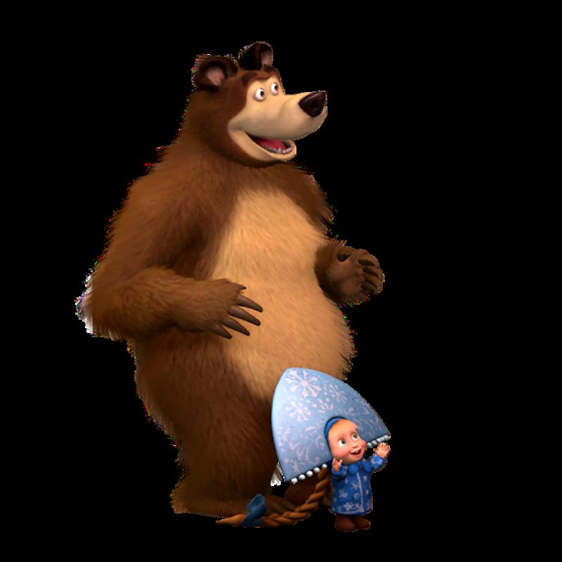 Маша и медведь новый год картинки на белом фоне, открытки