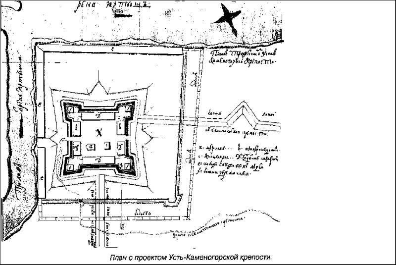План Усть-Каменогорской крепости
