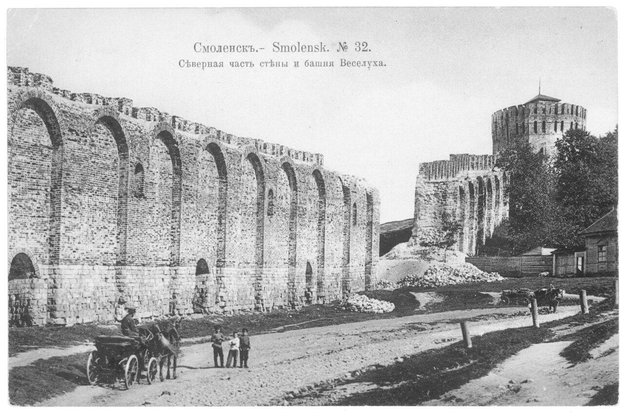 Северная часть стены и башня Веселуха