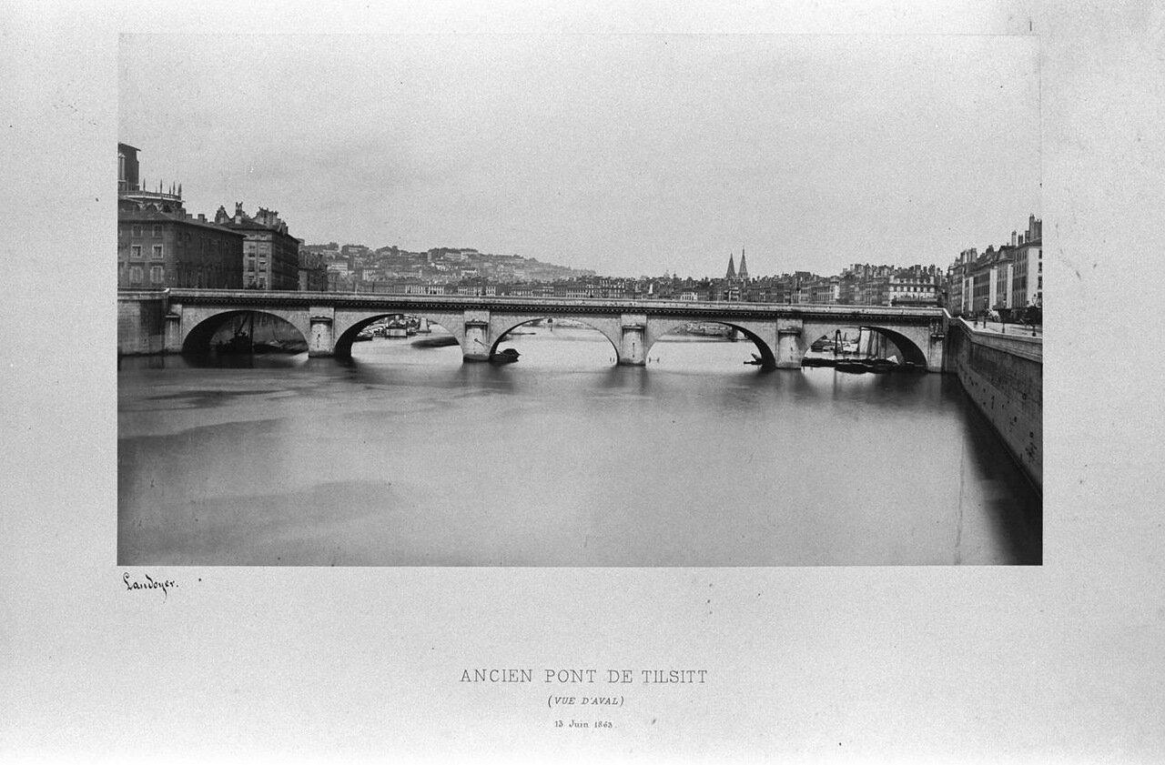 Старый Тильзитский мост. 13 июня 1863 года