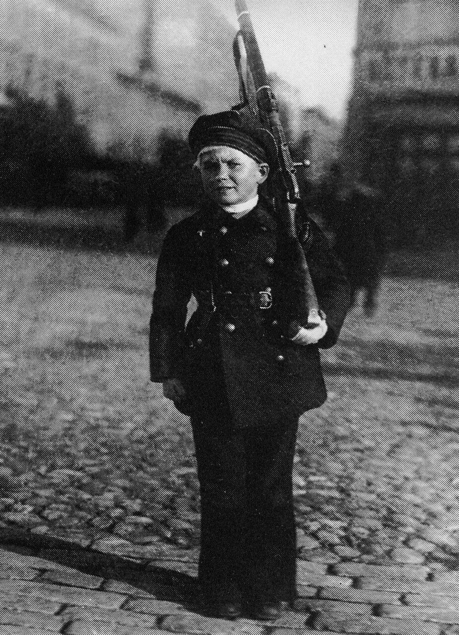 Юный защитник Петрограда. 1919 год.