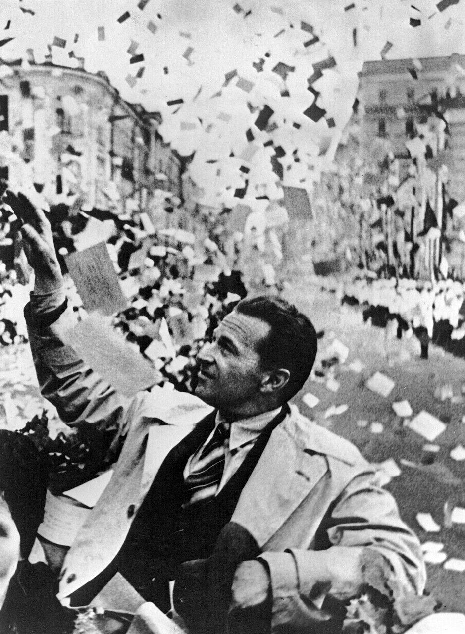 Москва встречает Громова. 1937 год.