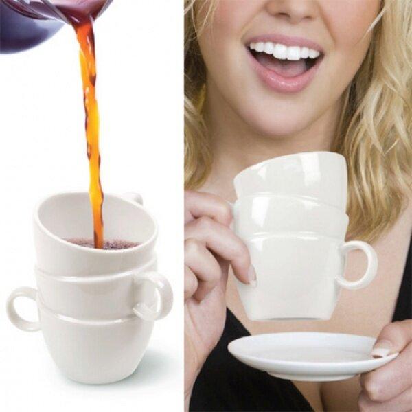 Сложенные горкой в раковине чашки вдохновили дизайнера Monica Tsang на создание шуточного концепта Тройной чашки