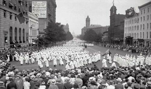Парад Ку-Клукс-Клана.1926 год.