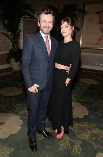 BEVERLY HILLS, CA - JANUARY 10: Actors Michael Sheen and Lizzy Caplan attend the 14th annual AFI Awards Luncheon at the Four Seasons Hotel Beverly Hills on January 10, 2014 in Beverly Hills, California. (Photo by Alberto E. Rodriguez/Getty Images for AF