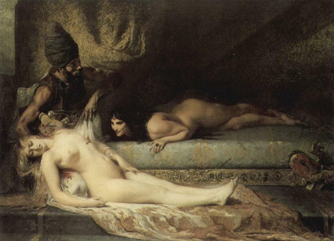 Ревность в серале (1874). Фернан Кормон(1845-1924)