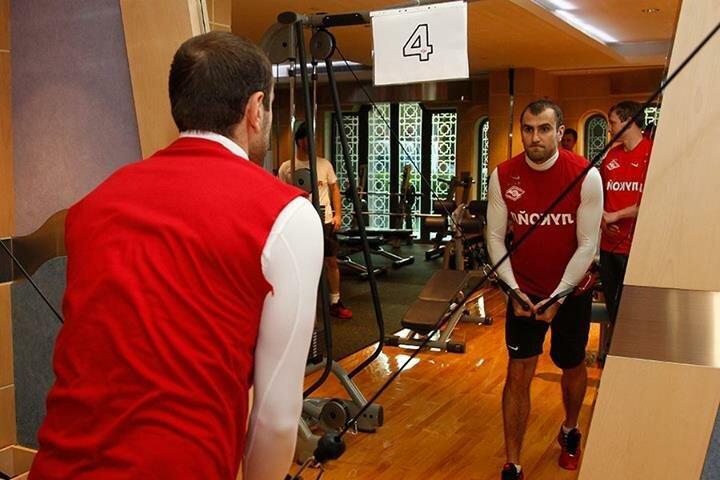 «Спартак» провел занятие в тренажерном зале (Фото)