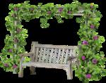 скамейка для   сада и  цветы.png