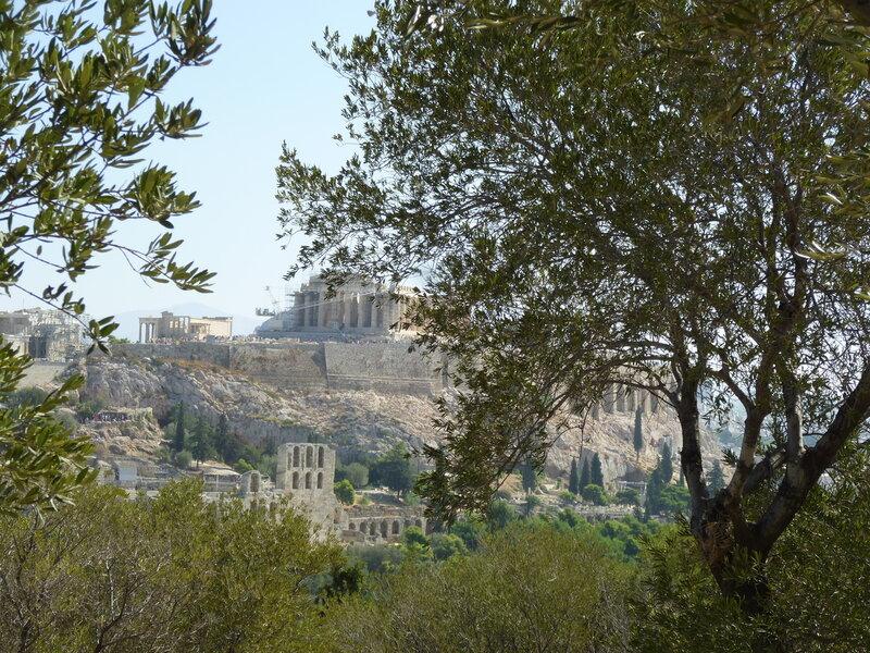 Вид на Акрополь с Филопапоса