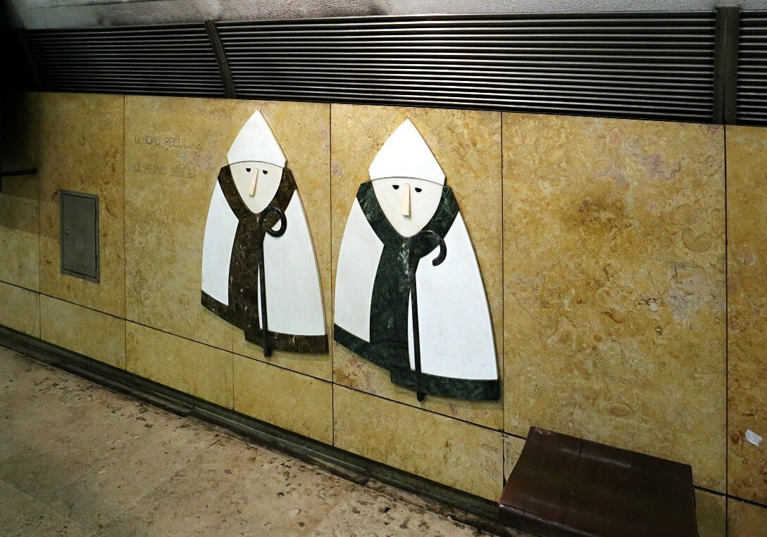Lisbon. Metro station Martim Moniz