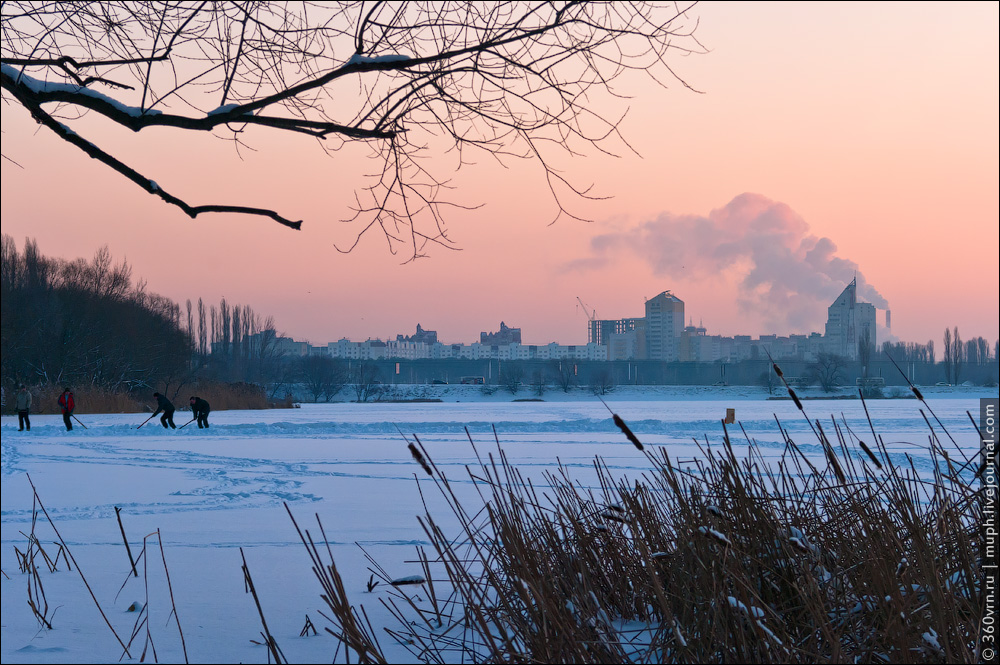Воронеж зимой фото водохранилище