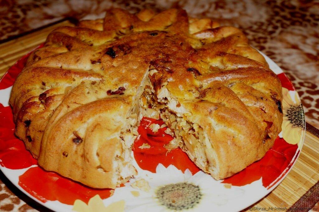 пирог с капустой бисквитный