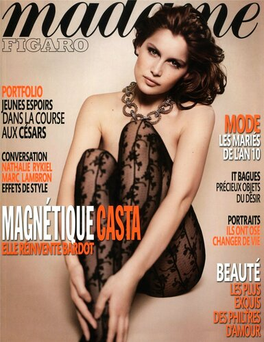 Laetitia Casta / Летиция Каста, фотограф Vincent Peters / Madame Figaro january 2010