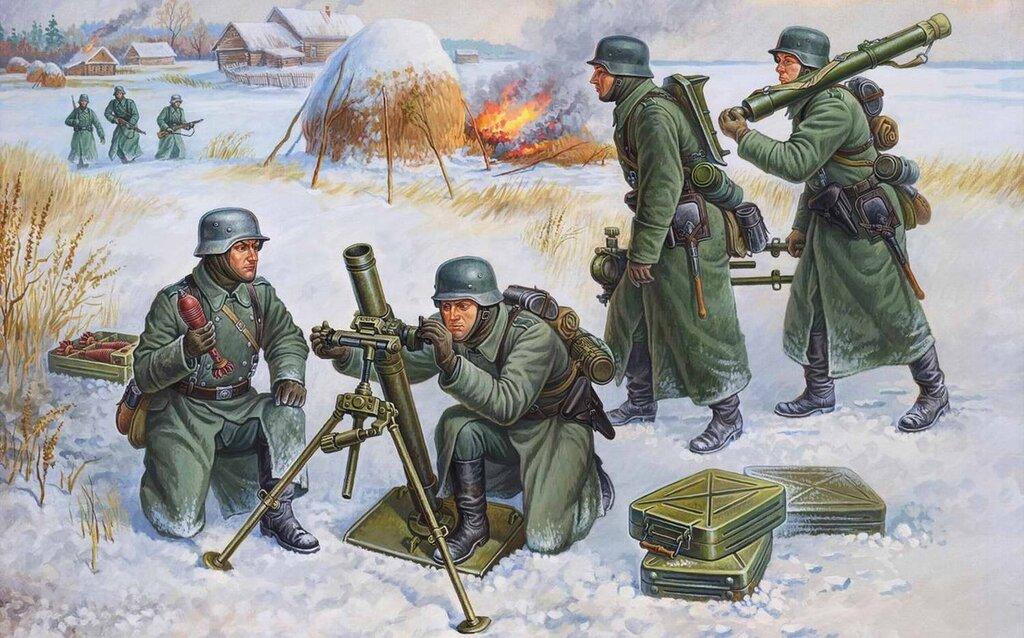 Немецкие минометчики (Олег Федоров)