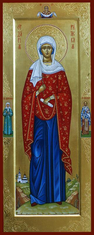Святая Дарья Римская, на полях Покров Богородицы, святая Матрона и святитель Николай