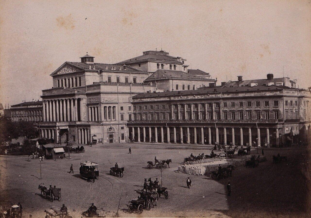 Театральная площадь со зданием Большого театра.1890-е