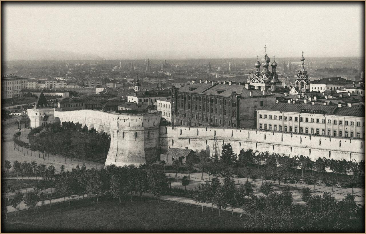 Вид на Китайгородскую стену с восточной стороны.  1887