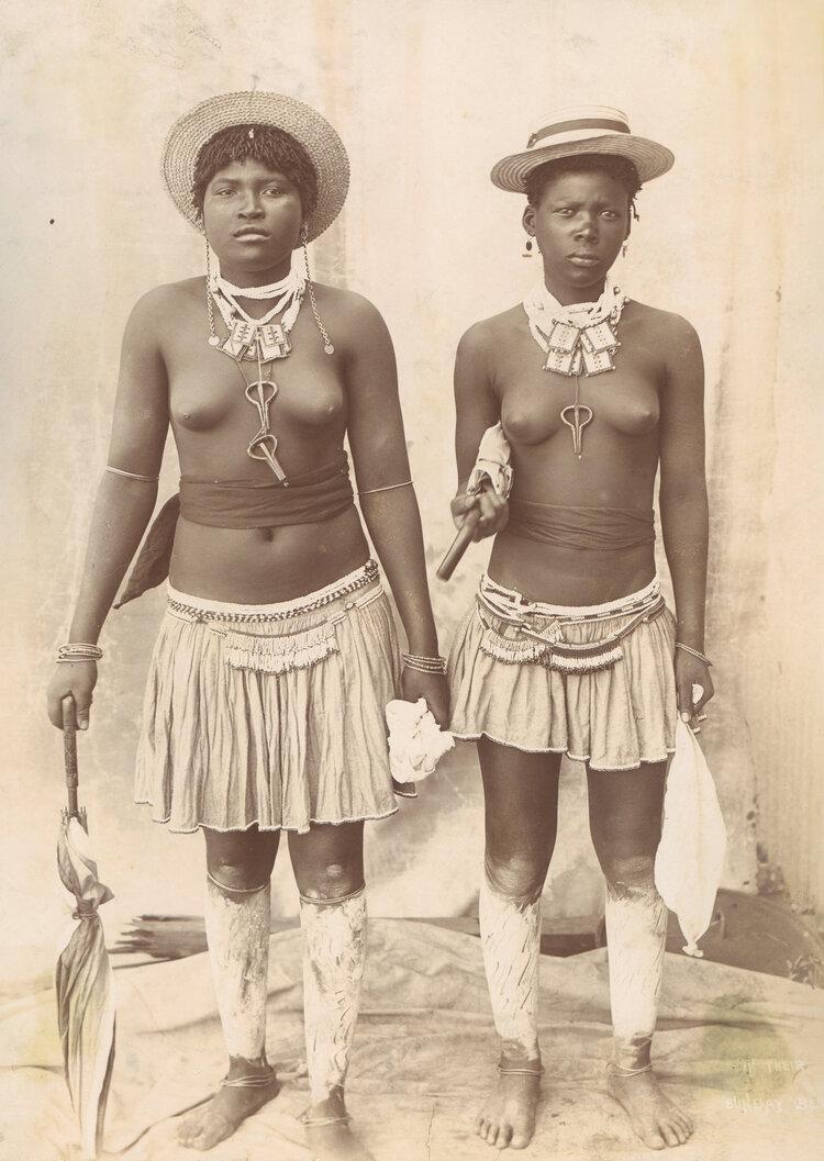 Две девушки. Южная Африка, в конце XIX века