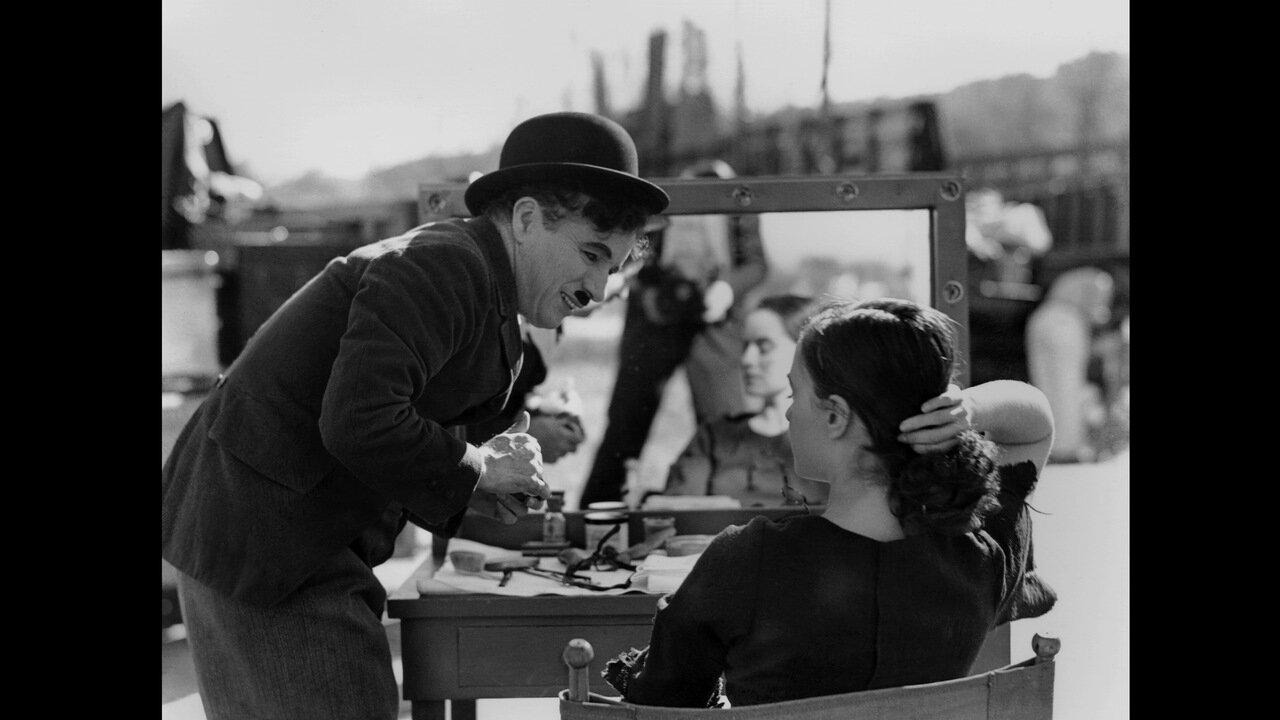 1936. Чарли Чаплин на съемках фильма «Новые времена»