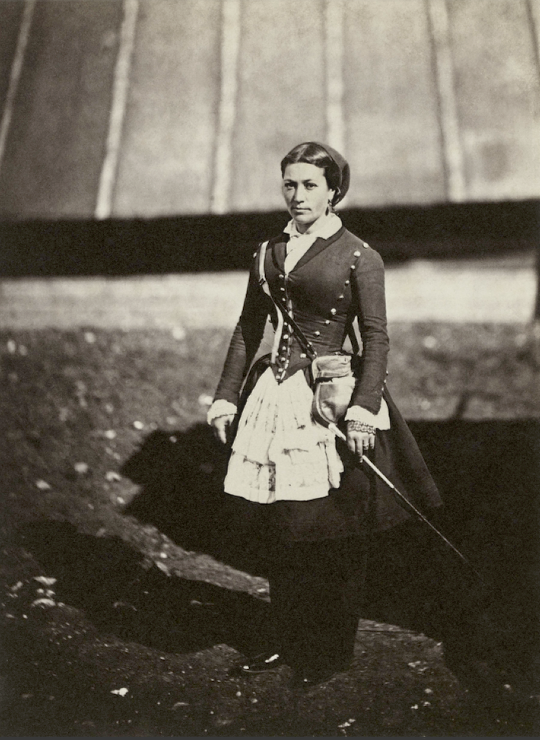 A French cantinière during the Crimean War - 1855, photographed by Roger Fenton