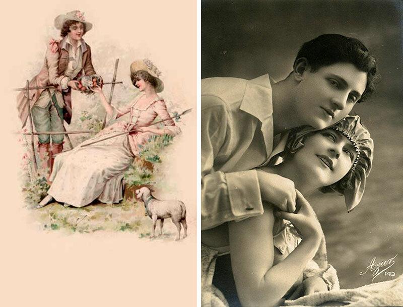 Папе, старинная открытки про любовь