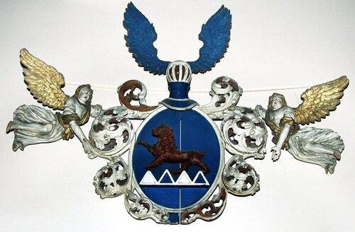 Герб баронов фон Хейкинг из Пилтенской церкви