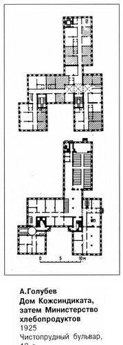 Дом Кожсиндиката (Министерство хлебопродуктов), планы