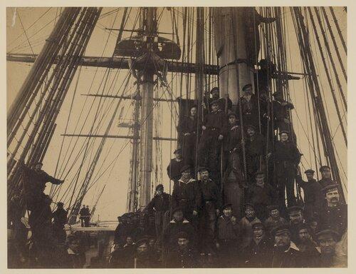 1863. Моряки с фрегата «Ослябя» в гавани Александрии