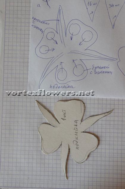 Как сделать пион из ткани, как собрать цветок из ткани