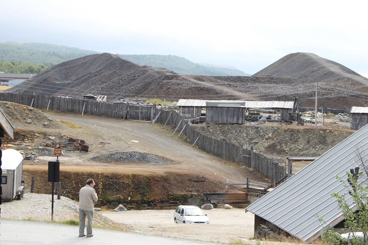 Røros. Dam and slag dump