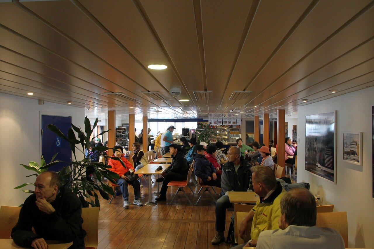 The lounge of the Geiranger-Hellesylt ferry