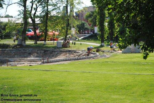 ремонт пруда в парке имени первого мая луганск июль 2013