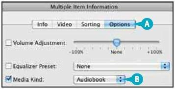 Как сделать, чтобы файлы с книгами появлялись в списке «Аудиокниги»?