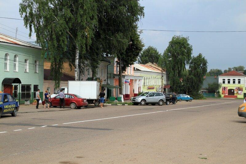 Дома на Соборной площади в Рогачёве