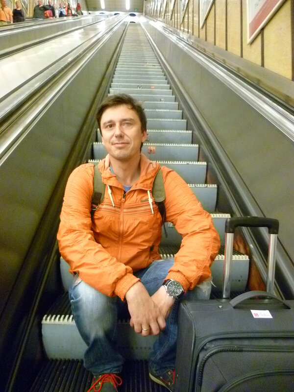 Будапешт. Эскалатор в метро.