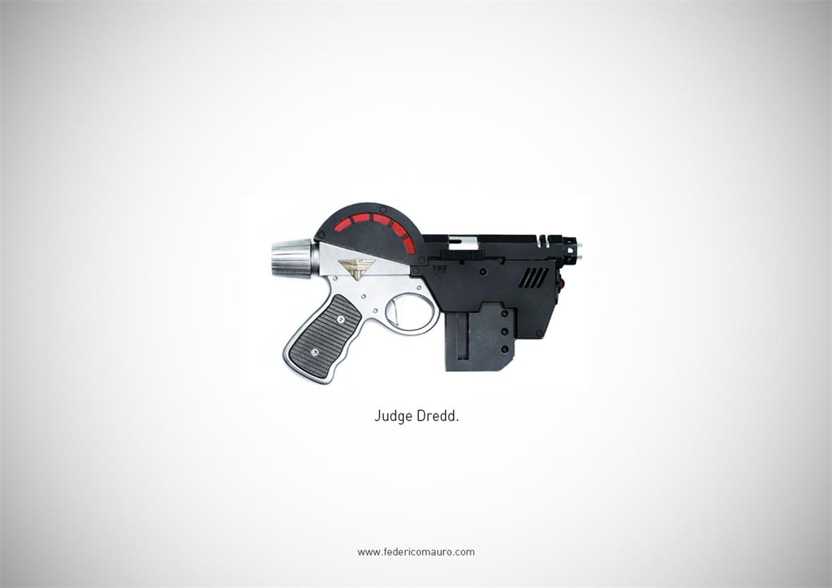 Знаменитые пушки - оружие культовых персонажей / Famous Guns by Federico Mauro - Judge Dredd