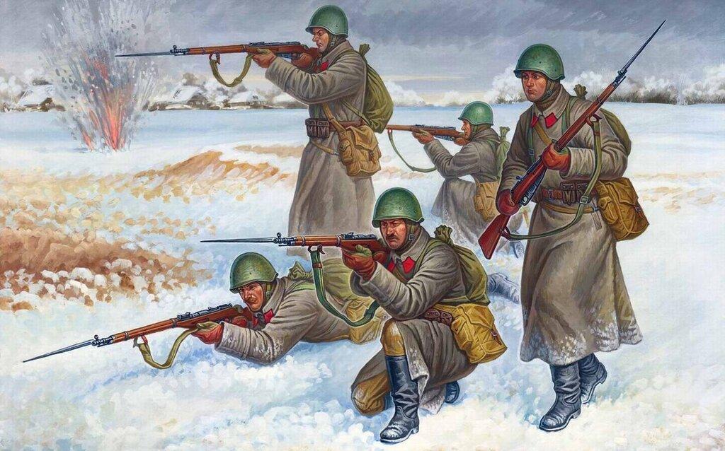 Солдаты советской армии в зимней форме (Олег Федоров)
