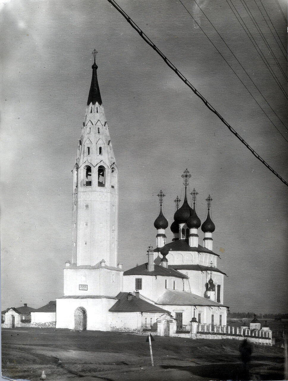Крестовоздвиженский храм п.Палех (фото 40-х гг. XX в.)