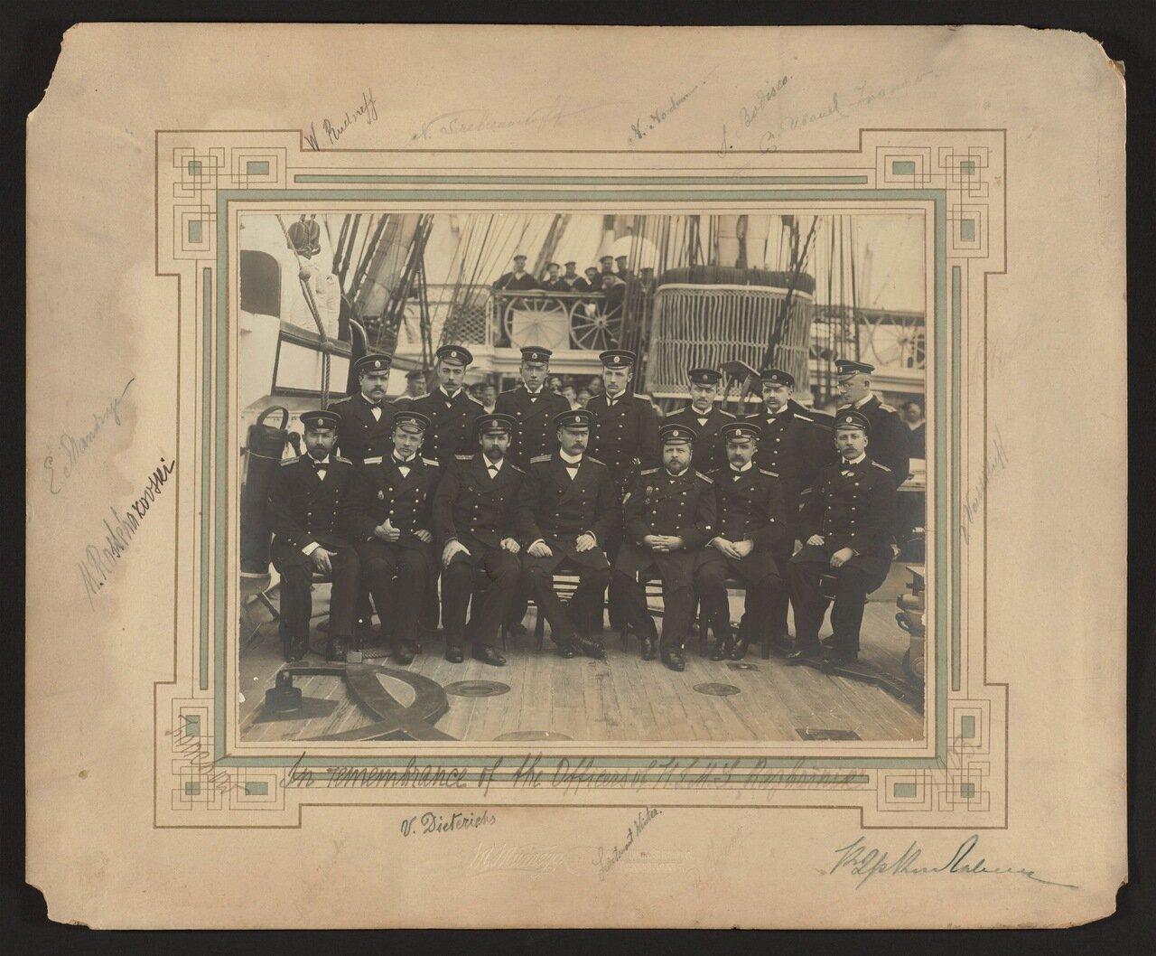 1903. Офицеры русского крейсера «Разбойник», Фучжоу, Китай