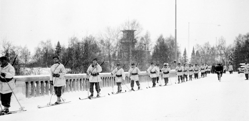 Danish volunteers getting ready to fight in Finnish Forces (WW2), Jan 10th 1940