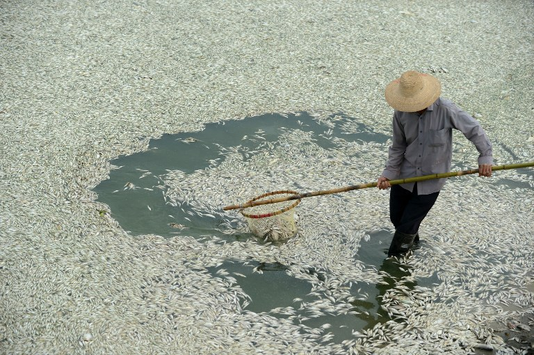 CHINA-POLLUTION-WATER